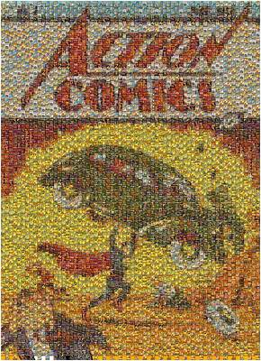 Comics Mixed Media - Action Comics Comic Cover Mosaic by Paul Van Scott