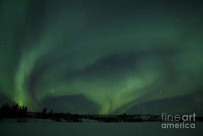 Northwest Territories Photograph - Active Aurora Over Vee Lake by Yuichi Takasaka