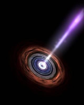 Active Galactic Nucleus, Artwork Art Print by Nasa