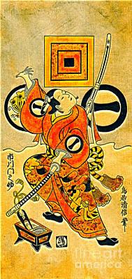 1736 Photograph - Actor Ichikawa Monnosuke 1736 by Padre Art
