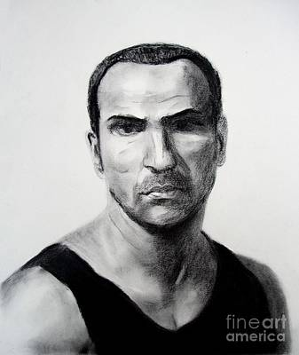 Film Series Drawing - Actor Oscar Torre by Jim Fitzpatrick