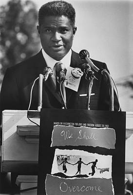 Actor Ossie Davis At The 1963 Civil Print by Everett