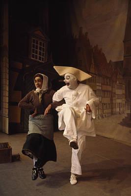 Actors Perform Pantomimes At Tivoli Art Print by Sisse Brimberg