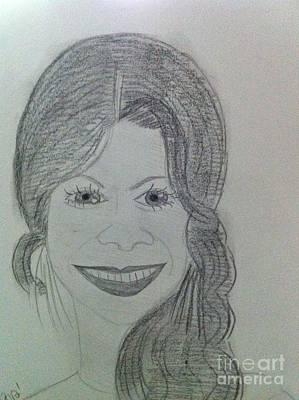 Actress Zoe S. Art Print by Charita Padilla