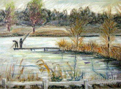 Pastel - Acworth Lake by Gretchen Allen