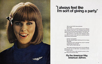 Airlines Photograph - Ad: American Airlines, 1968 by Granger