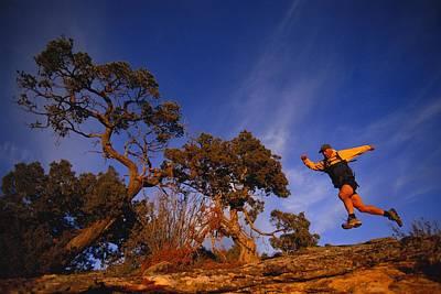 Adam Lederer Trail-runs Near Dolores Print by Bill Hatcher