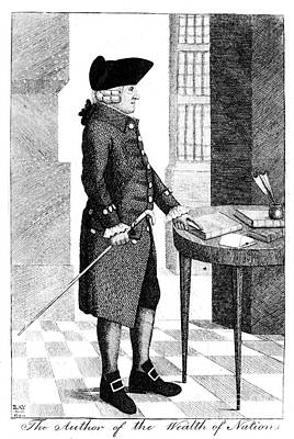 Adam Smith, Scottish Philosopher & Art Print by Photo Researchers