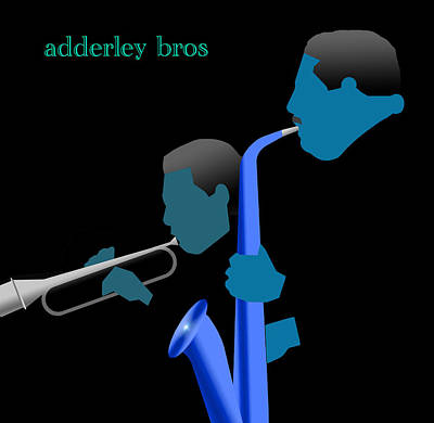 Jazz Digital Art - Adderley Brothers by Victor Bailey
