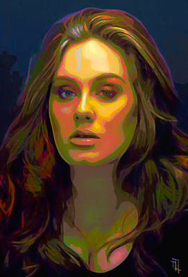 Adele Wall Art - Digital Art - Adele by  Fli Art
