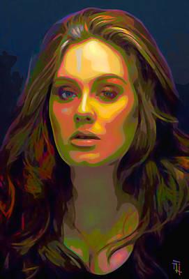 Adele Digital Art - Adele by  Fli Art