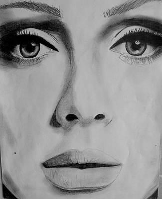 Adele Drawing - Adele by Eline  Plaum