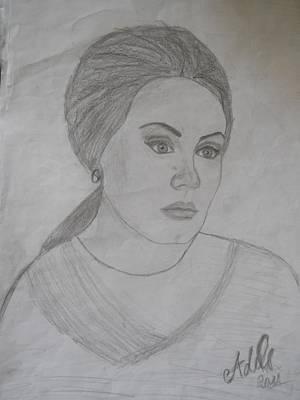 Adele Drawing - Adele by Isabela B