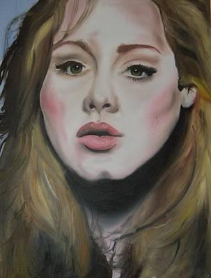 Adele Art Print by Matt Burke