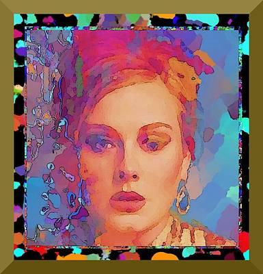 Adele Digital Art - Adele by Rod Saavedra-Ferrere
