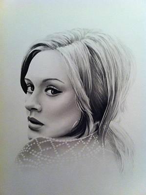 Adele Drawing - Adele by Tom Hansen