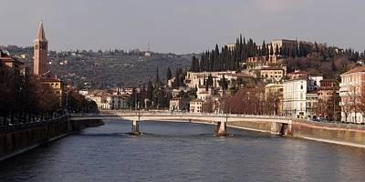 Photograph - Adige River Verona Italy by Keith Stokes