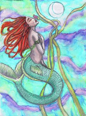 Painting - Adira The Mermaid by Janice T Keller-Kimball
