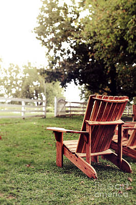 Southern Comfort Photograph - Adirondack Chair by Stephanie Frey