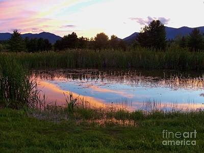 Adirondack Reflection 1 Art Print by Peggy Miller