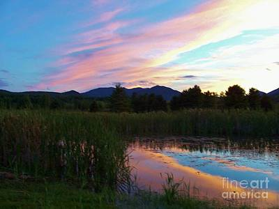 Adirondack Reflections 2 Art Print by Peggy Miller