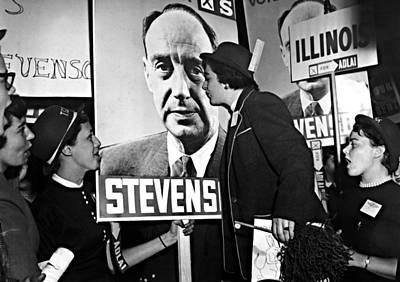 1950s Fashion Photograph - Adlai Stevenson, Presidential by Everett