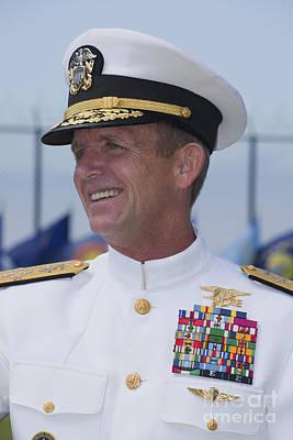 Admiral Eric T. Olson Speaks Art Print by Michael Wood