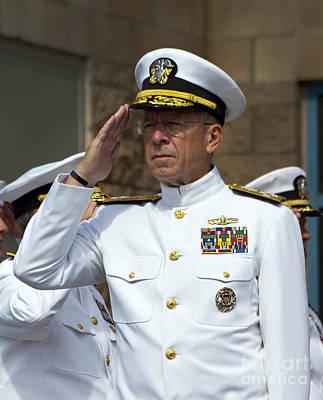 Admiral Michael Mullen Salutes Art Print by Michael Wood
