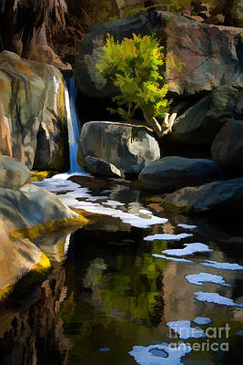 Digital Art - Adobe Falls  by L J Oakes