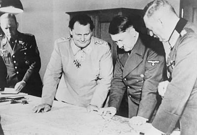 Goering Photograph - Adolf Hitler, Hermann Goring, And Field by Everett