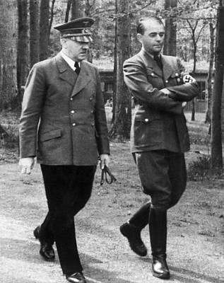 Speer Photograph - Adolf Hitler L, And Albert Speer R by Everett