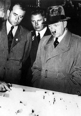 Speer Photograph - Adolf Hitler R, And Albert Speer L by Everett
