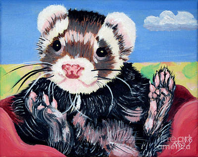 Adorable Ferret Art Print by Phyllis Kaltenbach