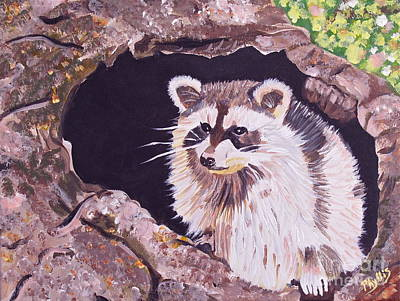 Painting - Adorable Raccoon by Phyllis Kaltenbach