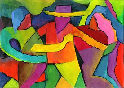 Merengue Painting - Adoracion by John Crespo Estrella