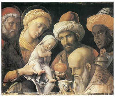 Adoration Of The Magi Print by Andrea Mantegna
