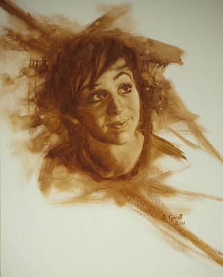 Monochromatic Study Painting - Adore by Sarah Good