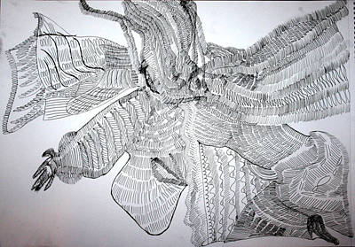 Drawing - Adowa Dance From Ghana by Gloria Ssali