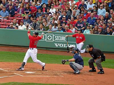Red Sox Art Photograph - Adrian Gonzalez by Juergen Roth