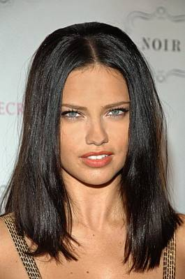Adriana Lima At In-store Appearance Art Print by Everett