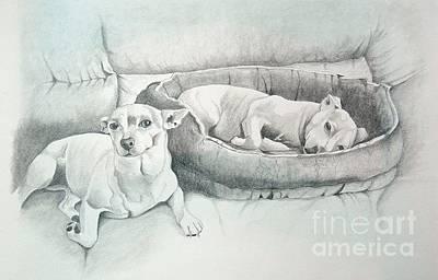 Drawing - Adrian's Kids by Joette Snyder