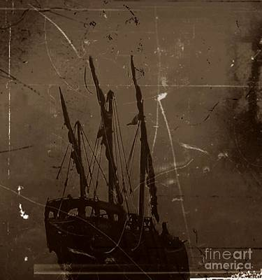 Adrift In A Sea Mist Print by Blair Stuart