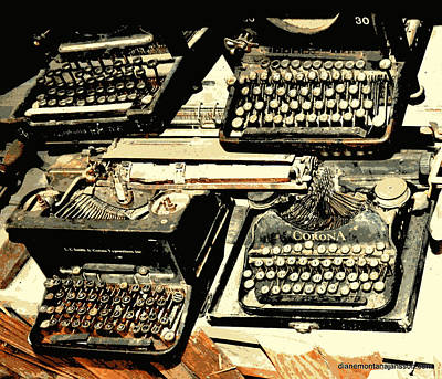 Photograph - Advanced Typing by Diane montana Jansson