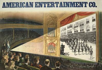 Marching Band Photograph - Advertisement Of The American by Everett