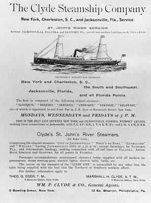 Advertisement: Steamship Art Print by Granger