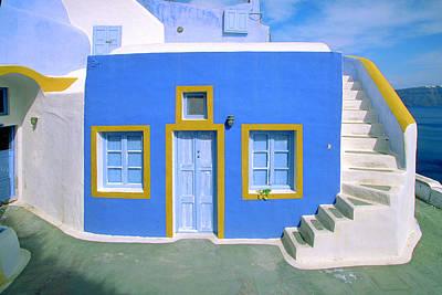 Photograph - Aegean Blue-santorini by John Galbo