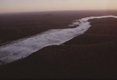 Aerial Of The Buffalo River Art Print by Randy Olson