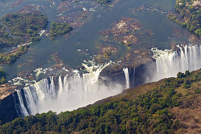 Aerial Of Victoria Falls, Zambia, Africa Art Print