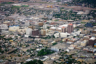 Aerial View Of Albuquerque Art Print by Lawrence Burry