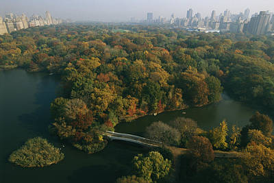 Aerial View Of Central Park Art Print by Melissa Farlow